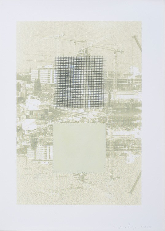 Francis Zeischegg, untitled, 2000, C-Print, Graphite, Oil paint on paper, 30 x 21 cm