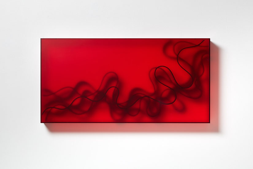 Birgitta Weimer, The Great Acceleration, 2019, wall object, acrylic glass, EPDM, 60 x 120 x 12 cm.
