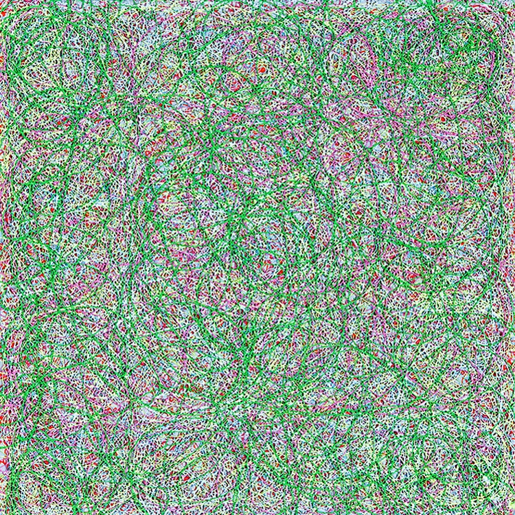 Susanne Lyner, 08/2008 untitled, Broderies, 2008, Acrylic on cotton, 30 x 30 x 6 cm.