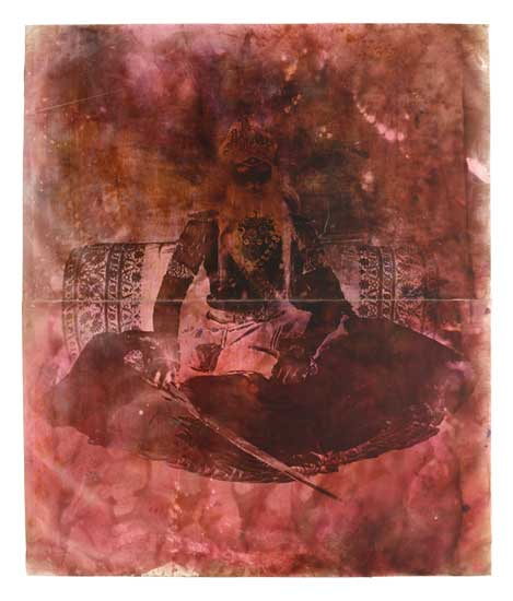 Maharoo-Raja Rahubir Singh Bahadur, 2002, b/w photograph on Baryt paper, coloured, 230 x 196 cm