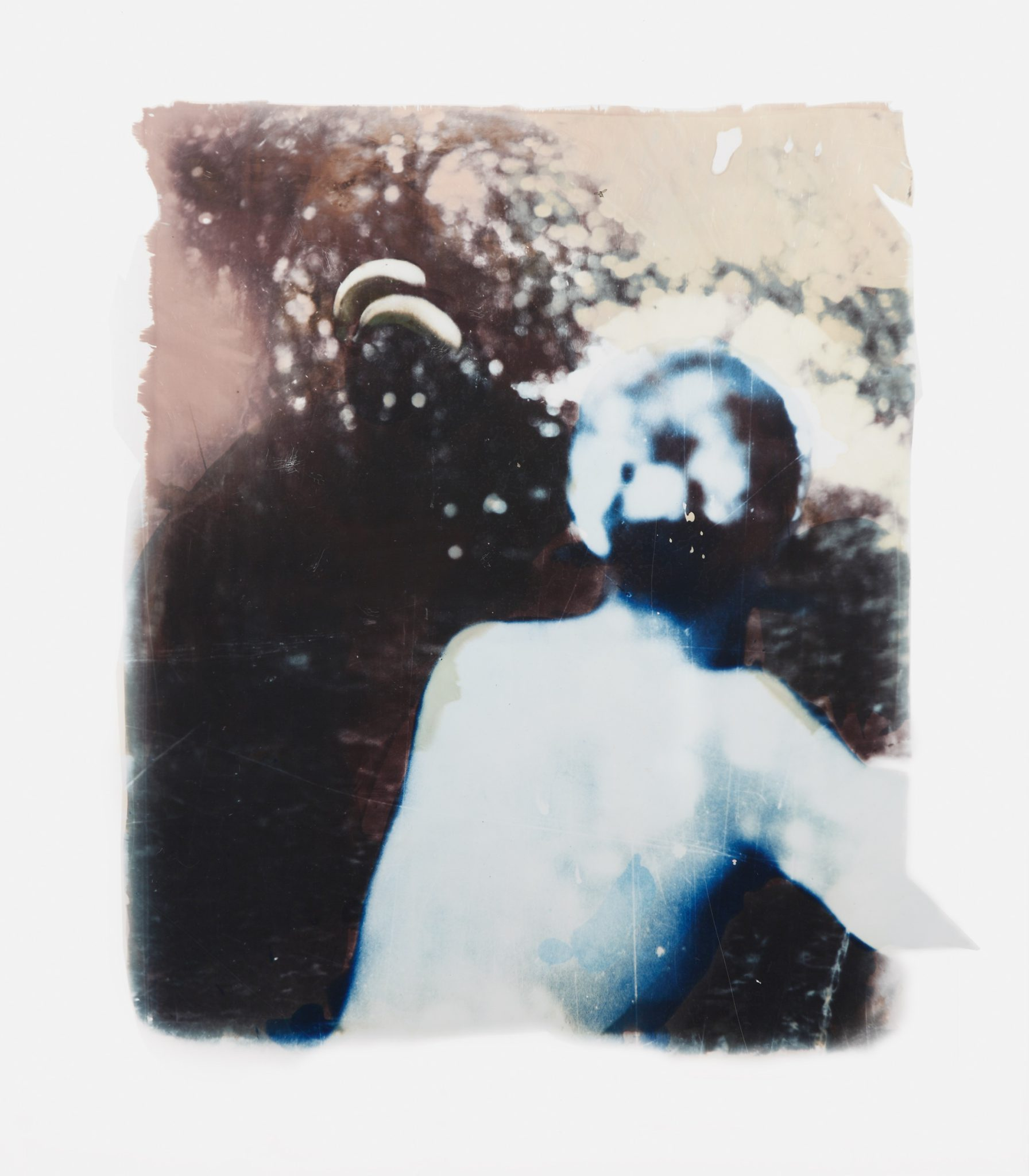 Rückenakt (Nude from the back), 1975, b/w photograph on Baryt paper, coloured, approx. 49 x 42 cm