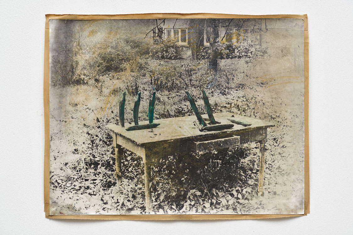 Gurkenparty (Cucumber party), 1971, b/w photograph on Baryt paper, coloured, 52 x 72, 5 cm