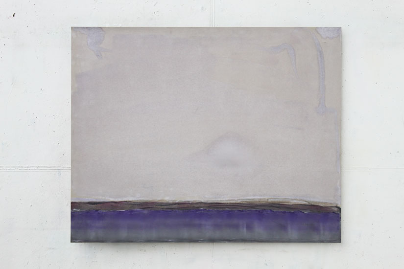 Andreas Bausch, o.T., 2010, Pigment, acrylic on stonepaper, 80 x 100 cm.