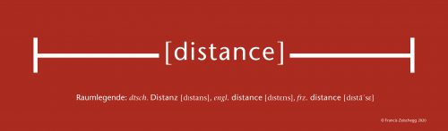 Raumlegende: distance, 2020