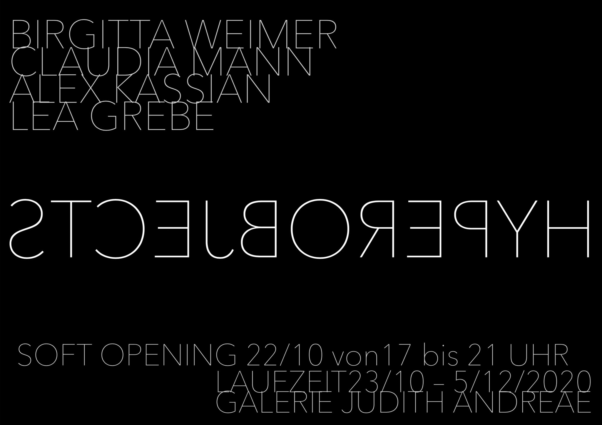 HYPEROBJECTS – SOFT OPENING 22/10/2020